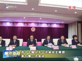 市十七届人大一次会议主席团举行第三次会议