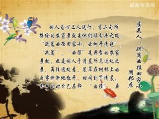 0109中华经典-诗词赏析-虞美人·疏离曲径田家小
