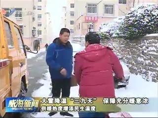 """大雪降温""""三九天""""  保障充分暖意浓 供暖热度增添民生温度"""