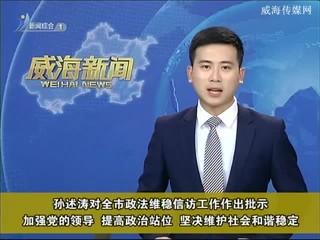 孙述涛对全市政法维稳信访工作作出批示
