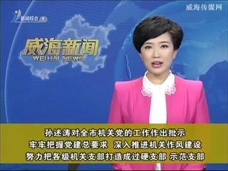 孙述涛对全市机关党的工作作出批示 牢牢把握党建总要求 深入推进机关作风建设  努力把各级机关支部打造成过