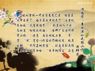 0330中华经典-诗词赏析-满庭芳·夏日溧水无想山作