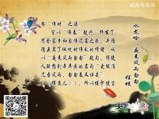 0329中华经典-诗词赏析-水龙吟·夜来风雨匆匆