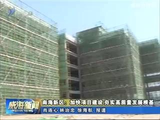 南海新区:加快项目建设 夯实高质量发展根基