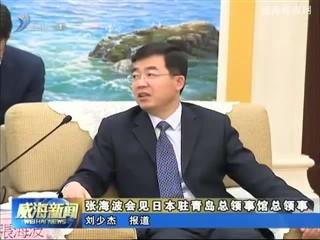 张海波会见日本驻青岛总领事馆总领事