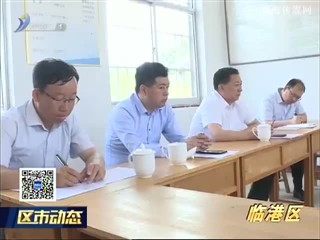 临港区组织调研帮包村党建和扶贫工作