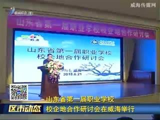 山东省第一届职业学校校企地合作研讨会在威海举行