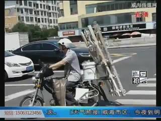 爱拍 爱车上人行道乘凉 停车别只图方便