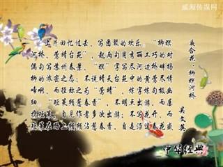 0726中华经典-诗词赏析-夜合花·柳冥河桥