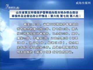 山东省第五环境保护督察组向我市转办群众信访举报件及边督边改公开情况(第六批第七批第八批)