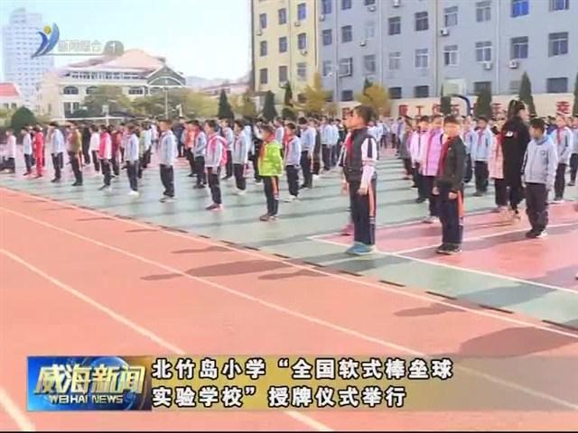 """北竹岛小学""""全国软式棒垒球实验学校""""授牌仪式举行"""