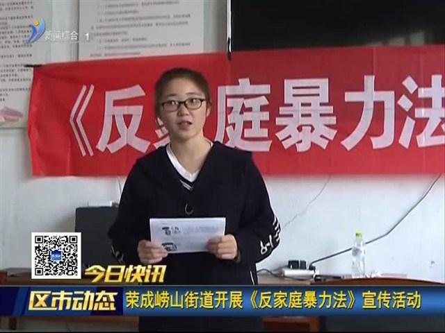 荣成崂山街道开展《反家庭暴力法》宣传活动